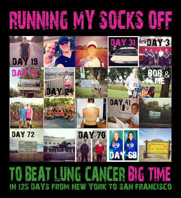 The Great Lung Run to Beat Lung Cancer-Big Time!.  (PRNewsFoto/Bonnie J. Addario Lung Cancer Foundation)