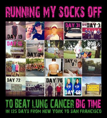 The Great Lung Run to Beat Lung Cancer-Big Time!.  (PRNewsFoto/Bonnie J. Addario Lung Cancer Foundation)