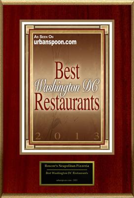 "Roscoe's Neapolitan Pizzeria Selected For ""Best Washington DC Restaurants.""  (PRNewsFoto/Roscoe's Neapolitan Pizzeria)"