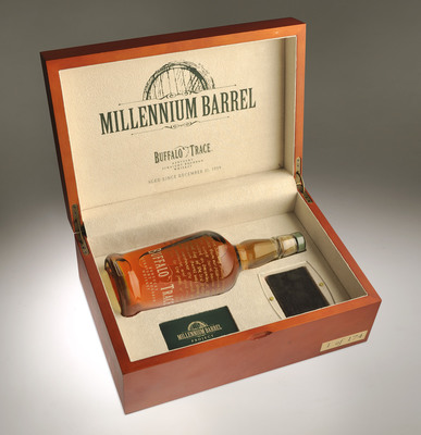 Buffalo Trace Distillery's Millennium Barrel Commemorative Box.  (PRNewsFoto/Buffalo Trace Distillery)