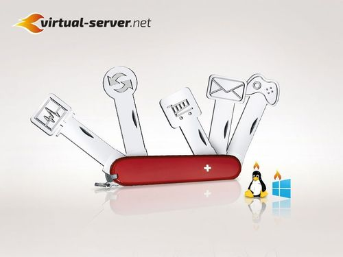 virtual-server.net: Multi-functional like a Swiss army knife. Editorial use of this picture is free of charge / Please quote the source: SecureRack. (PRNewsFoto/SecureRack)