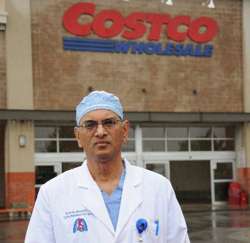 Ohio Surgeon Challenges Costco.  (PRNewsFoto/Dr. Surender R. Neravetla)