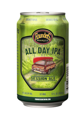 "Founders Brewing Co. will be offering this summer its seasonal ""All Day IPA"" for the first time ever in cans from Ball Corporation.  (PRNewsFoto/Ball Corporation)"