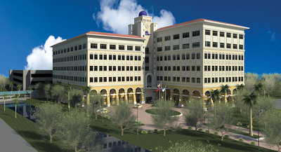 Nova Southeastern University Center for Collaborative Research rendering.  (PRNewsFoto/Nova Southeastern University)