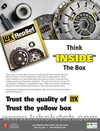 Schaeffler Announces 'Think Inside the Box' Media Campaign