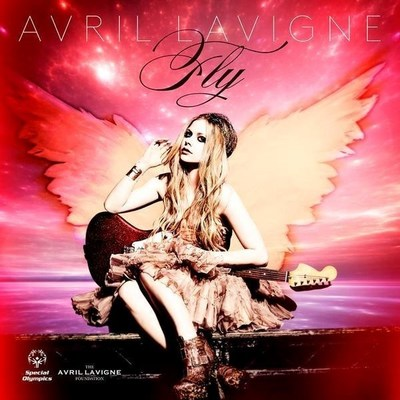 "Avril Lavigne cover art for ""Fly"" photo by Mark Liddell"