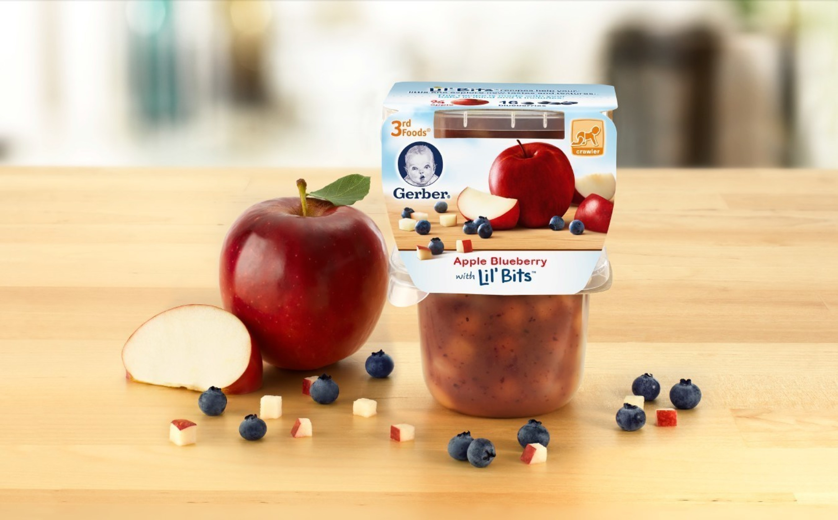 Gerber 3rd Foods(R) Lil' Bits(TM) Recipes -  Apple Blueberry