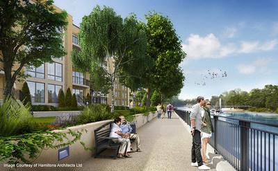 Teddington Riverside Image Courtesy of Hamiltons Architects Ltd (PRNewsFoto/Waterman Group Plc)
