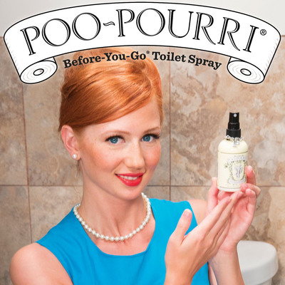 "Poo~Pourri Before-You-Go Toilet Spray was honored during the Ad Age Digital Conference in New York City, April 1-2, as a winner at the fifth annual Viral Video Awards. The brand's ""Girls Don't Poop"" video won in the category of Funniest Viral Video -- Audience Vote. Poo~Pourri is a secret blend of essential oils and other natural compounds that eliminates bathroom odors by creating a protective film on the water's surface, trapping odors below. The video, which has been viewed more than 25 million times, can be seen at http://www.poopourri.com.  (PRNewsFoto/Poo~Pourri)"