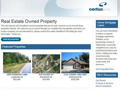 CertusBank Launches new website CertusBank.com/reo.  (PRNewsFoto/CertusBank, N.A.)