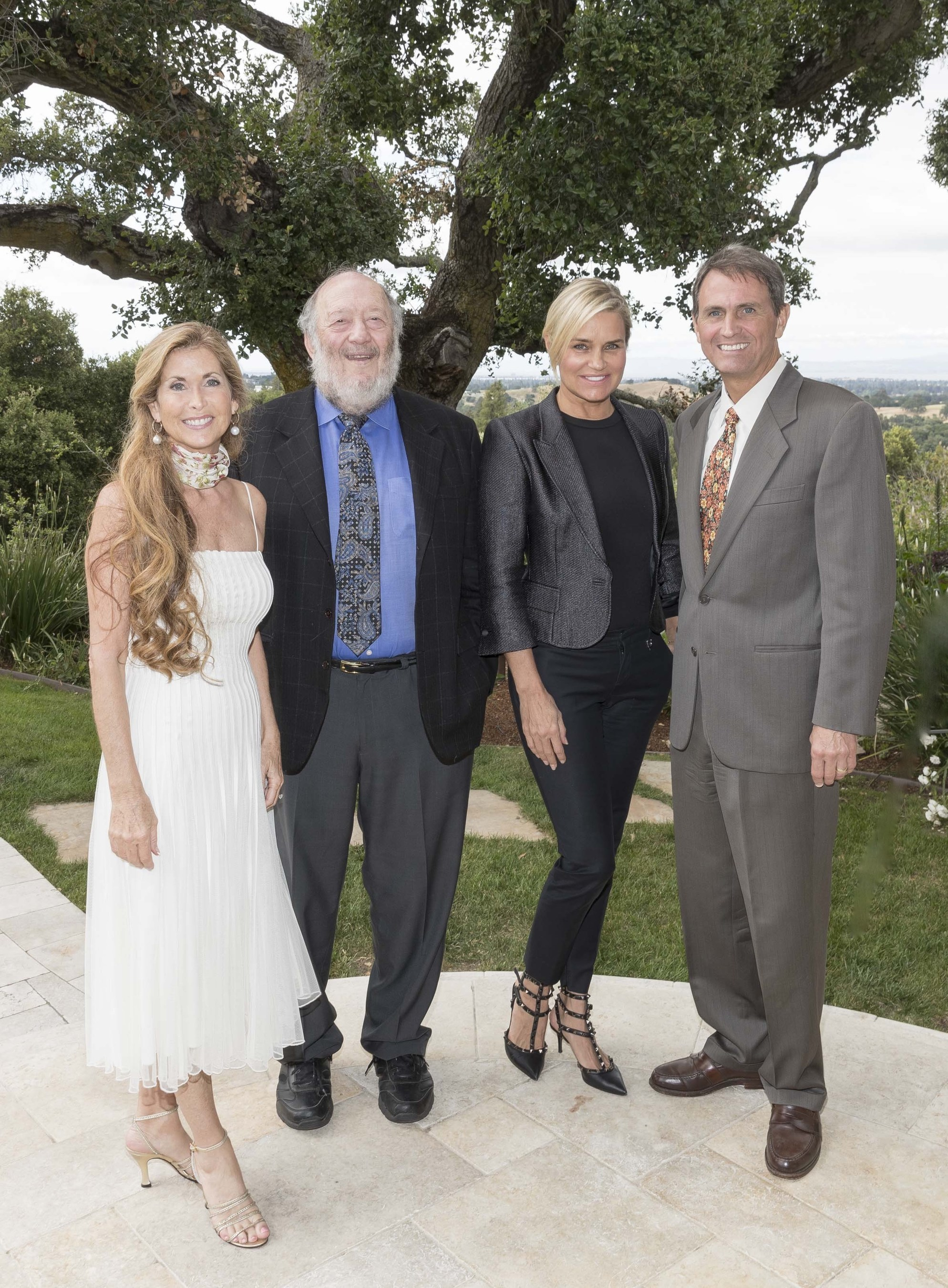 Stand4Lyme Foundation founder and president Sherry Cagan, esteemed Stanford University stem-cell scientist Irv Weissman, Stanford Lyme Disease Working Group advisor, along with Stand4Lyme Catalyst 4 The Cure celebrity honorary chair Yolanda Hadid, high profile Lyme disease advocate, a member of the Real Housewives of Beverly Hills TV show, and Laird Cagan, founder and chief strategy officer.
