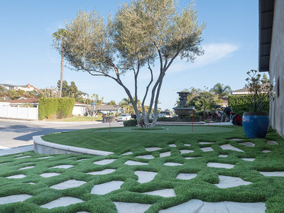 Anchor Turf artificial grass installation at a home in Dana Point, California.