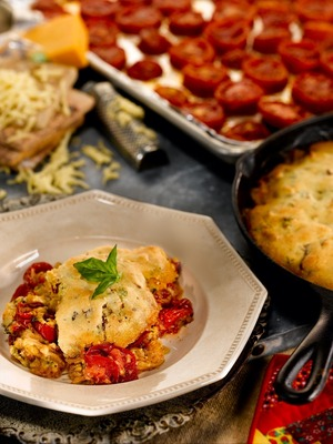 Martha White Award-Winning Roasted Tomato and Bacon Cobbler (PRNewsFoto/Martha White)