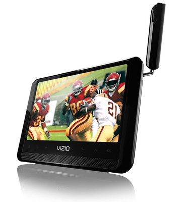 "VIZIO's new 7"" Edge Lit Razor LED Portable delivers digital picture quality to personal TV experience.  (PRNewsFoto/VIZIO, Inc.)"