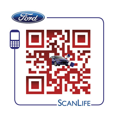 Scan this for more info on the 2012 Ford Focus.  (PRNewsFoto/Scanbuy, Inc.)