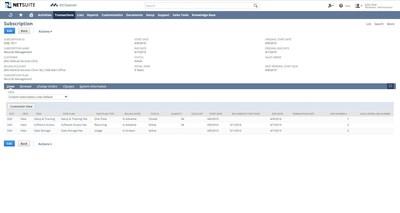 NetSuite SuiteBilling - Subscription