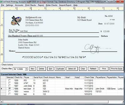 ezCheckPrinting: check printing software for any business.  (PRNewsFoto/Halfpricesoft.com)
