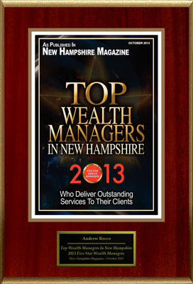 "Andrew M. Rocco CLU, ChFC Selected For ""Top Wealth Managers In New Hampshire"".  (PRNewsFoto/American Registry)"