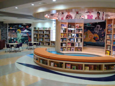 One of three Baltimore City Public Schools libraries renovated in the first year of the Weinberg Foundation Library Project.  (PRNewsFoto/The Harry and Jeanette Weinberg Foundation)