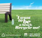A recycled plastic bottle can become a bench! Give your garbage another life.  (PRNewsFoto/Ad Council)