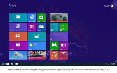 RetroUI Enforce Takes Control of the Start Screen and Brings Back the Taskbar.  (PRNewsFoto/Thinix)