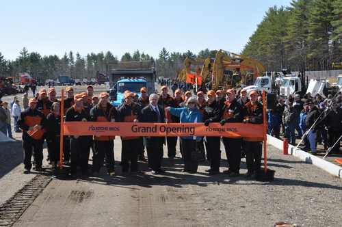 Ribbon-cutting ceremony at Ritchie Bros. grand opening auction in Manchester, NH on April 17, 2014 ...