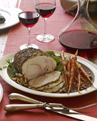 "Wine Institute's ""Down to Earth"" California sustainable winegrowing book includes a winter recipe for a Slow Roasted Pork Shoulder with Carrots and Herbs."