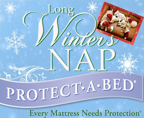 Protect-A-Bed's Long Winter's Nap campaign encourages people to learn more about healthy habits while sleeping with pets and to pin photos of their pets sleeping for a chance to win bedding protection and a $250 gift card.  (PRNewsFoto/Protect-A-Bed)