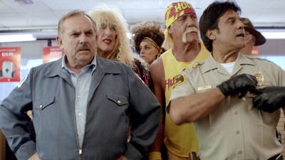 RadioShack's surprise Super Bowl ad featured many familiar and much-loved '80s pop culture icons, including John Ratzenberger, Dee Snider, Hulk Hogan and Erik Estrada, barging into an outdated RadioShack store to take back the technology of their decade. The ad helps turn the page on the RadioShack of the past and ushers in a new era for the brand.  (PRNewsFoto/RadioShack Corporation)
