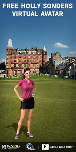 Golf Channel's Holly Sonders Virtual Avatar on World Golf Tour.  (PRNewsFoto/Golf Channel)