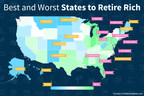 Latest GOBankingRates study finds the best (and worst) states to retire rich.