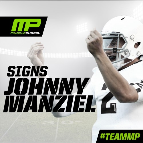 MusclePharm Corporation (OTCQB: MSLP), a scientifically driven, performance-lifestyle sports nutrition company, is proud to announce it has signed a multi-year endorsement deal with former Heisman Trophy winner and NFL first-round draft pick Johnny Manziel. (PRNewsFoto/MusclePharm Corporation)