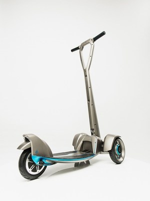 'E-floater' from Floatility - a first-of-its-kind, lightweight, solar-powered, electric scooter. The working prototype was created with Stratasys 3D printing (PRNewsFoto/Stratasys Ltd.) (PRNewsFoto/Stratasys Ltd.)