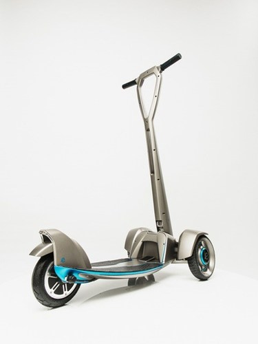 'E-floater' from Floatility - a first-of-its-kind, lightweight, solar-powered, electric scooter. The ...