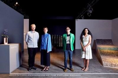2016 Swarovski Designers of the Future Award winners: Studio Brynjar & Veronika, Yuri Suzuki, Anjali Srinivasan (C) Mark Cocksedge (PRNewsFoto/Swarovski and Design Miami/)