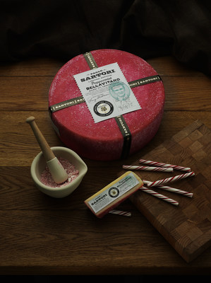 Sartori Cheese releases their Limited Edition Peppermint BellaVitano in support of Breast Cancer Awareness Month. (PRNewsFoto/Sartori Cheese)
