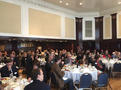 Crowd hears details of 2015 annual WWP Alumni Survey at the National Press Club