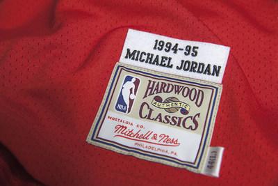 Mitchell & Ness Jordan jersey tag.