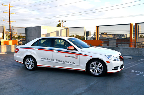 Mercedes benz driving academy los angeles reaches one year for Mercedes benz driving school los angeles