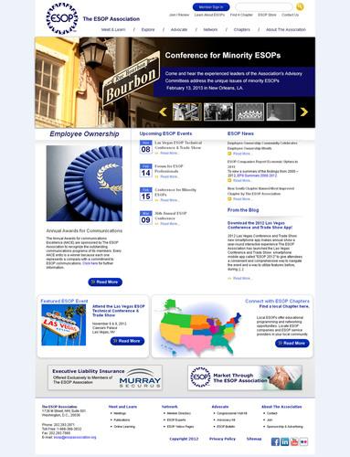 The ESOP Association's new website.  (PRNewsFoto/The ESOP Association)