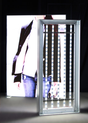 "Two Sided Frameless Fabric Backlit LED Light Box in sizes up to 120"" x 204"" by DSA Phototech, www.lightboxes.com"