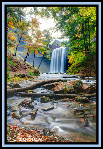 Beautiful DeCew Falls, located near Brock University outside of St. Catharines, Ontario. The waterfall is part ...