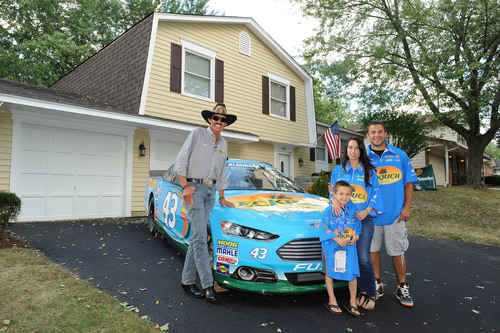 Eckrich and Richard Petty Hand Over Keys for a Mortgage Free House to Illinois Military Family. ...
