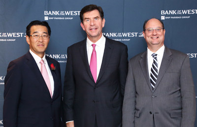 Bank of the West Executives attend the Bank's 21st Annual Pacific Rim Client Appreciation Event. From left to Right: Yukinori Nishio, Executive Vice President and Head of the Bank's Pacific Rim Banking Division, Michael Shepherd, Chairman and CEO, and Chief Economist Scott Anderson, PhD.