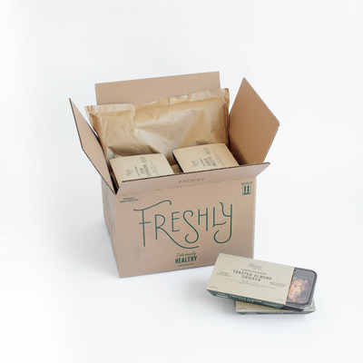 Freshly 2.0 features all-new recyclable packaging complete with biodegradable, recycled denim to keep food cold in transit.