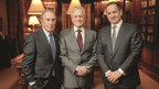 Michael R. Bloomberg, the 2014 Genesis Prize Laureate, Michael Douglas, the 2015 Genesis Prize Laureate, and Stan Polovets, Co-founder and Chairman of the Genesis Prize Foundation.