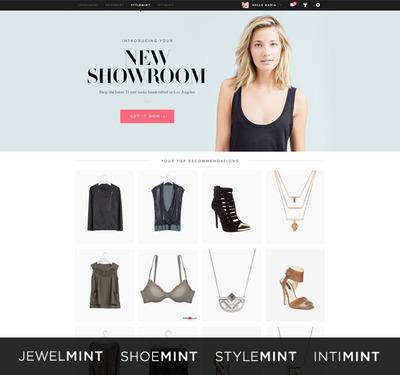 BeachMint's four women's fashion brands: JewelMint, StyleMint, ShoeMint and intiMINT.  (PRNewsFoto/BeachMint)