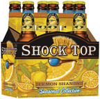 Shock Top Belgian Wheat introduces its latest seasonal beer, Shock Top Lemon Shandy, which will be available March 19 through the end of July 2012.  (PRNewsFoto/Anheuser-Busch)