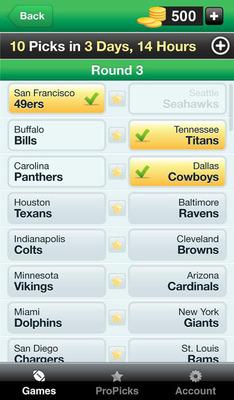 MegaPicks iPhone App.  (PRNewsFoto/SportsHedge Inc)