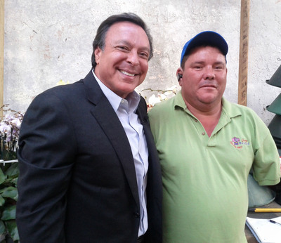 Business Leader Miguel B. (Mike) Fernandez - Recipient Of STU Honoris Causa Degree - Here With Jorge Alvart.  (PRNewsFoto/St. Thomas University)